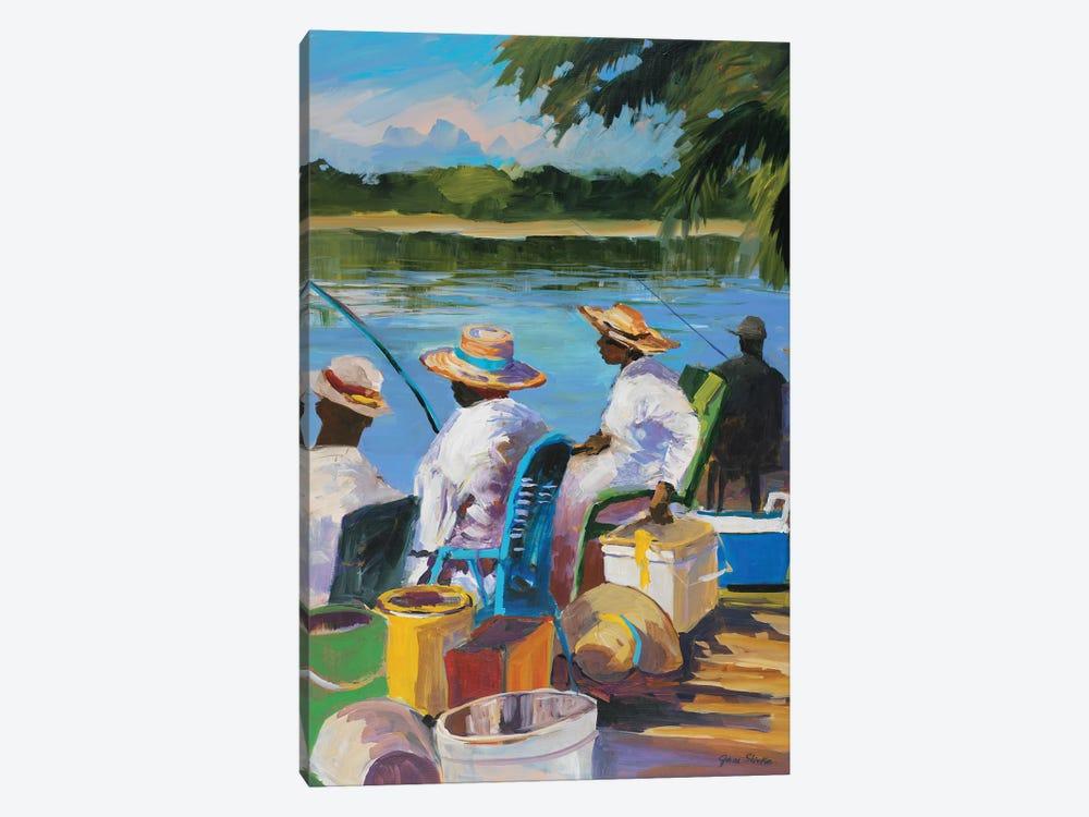 Fishing II by Jane Slivka 1-piece Canvas Artwork