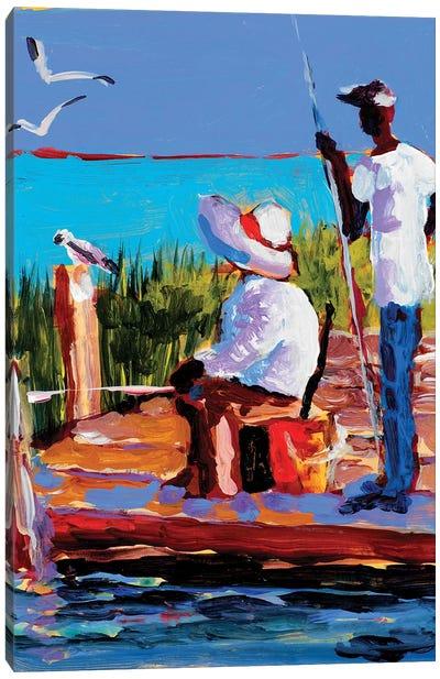 Fishing III Canvas Art Print