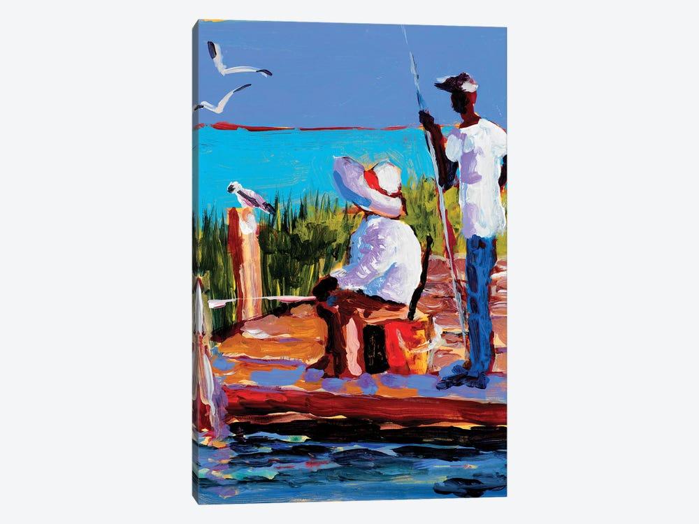 Fishing III by Jane Slivka 1-piece Art Print