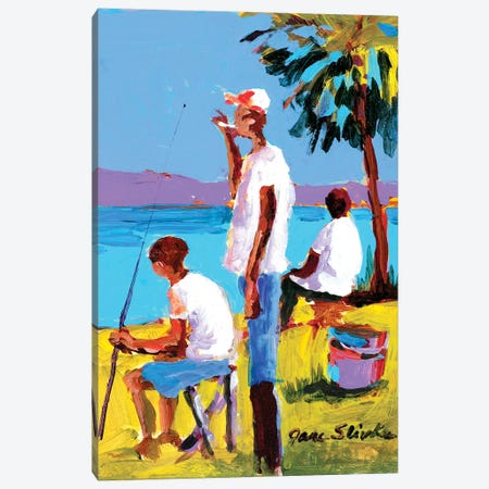 Fishing IV Canvas Print #JSL25} by Jane Slivka Canvas Art