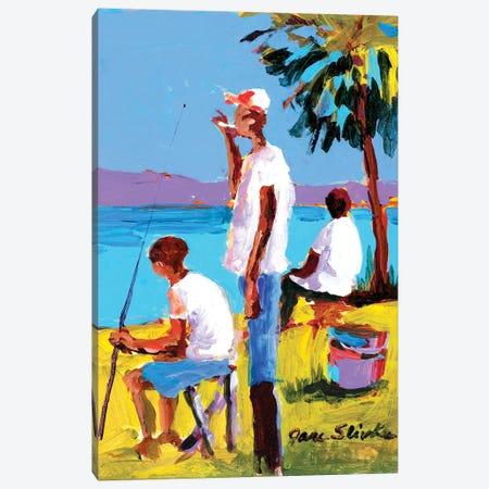 Fishing IV Canvas Print #JSL25} by Jane Slivka Canvas Art