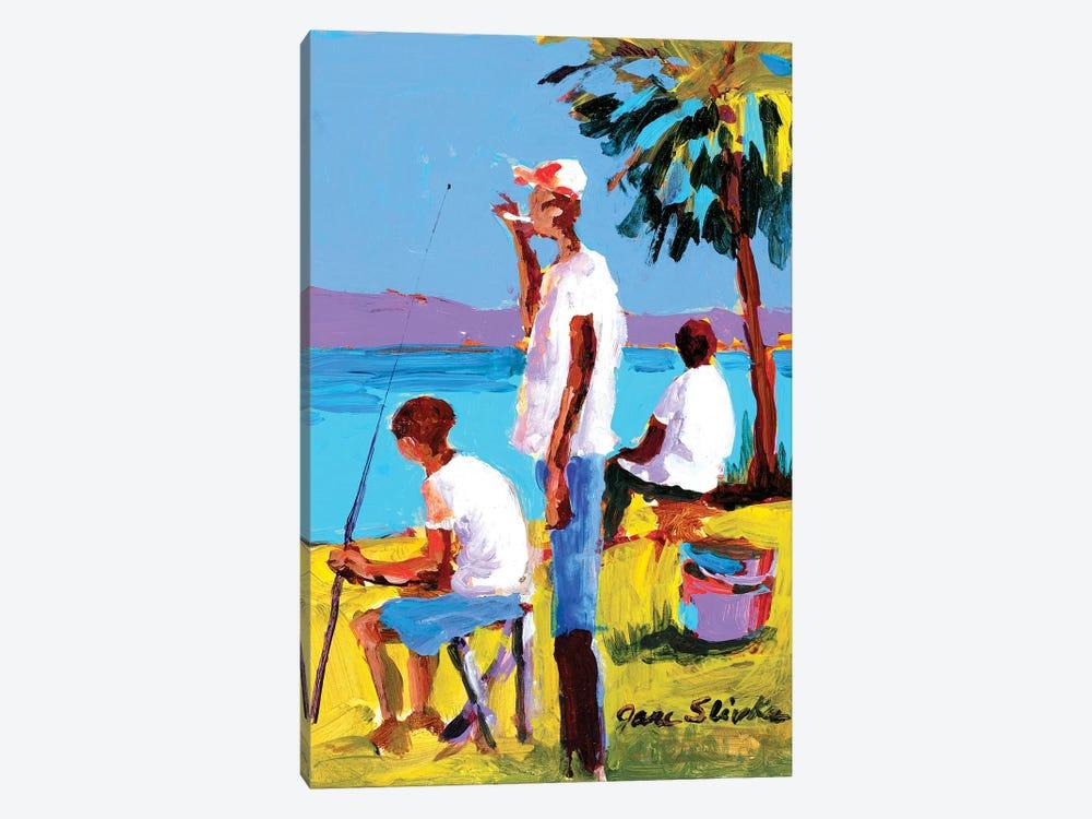 Fishing IV by Jane Slivka 1-piece Canvas Art