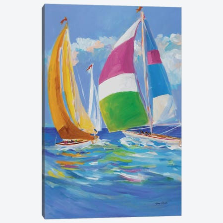 Full Sail II Canvas Print #JSL27} by Jane Slivka Canvas Wall Art