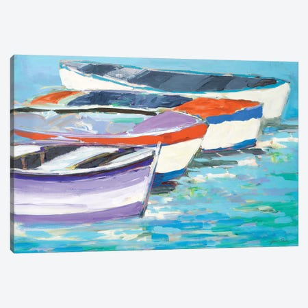 Keep Rowing Canvas Print #JSL33} by Jane Slivka Canvas Artwork