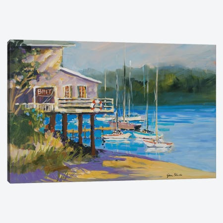 Bait Shack Canvas Print #JSL3} by Jane Slivka Canvas Art