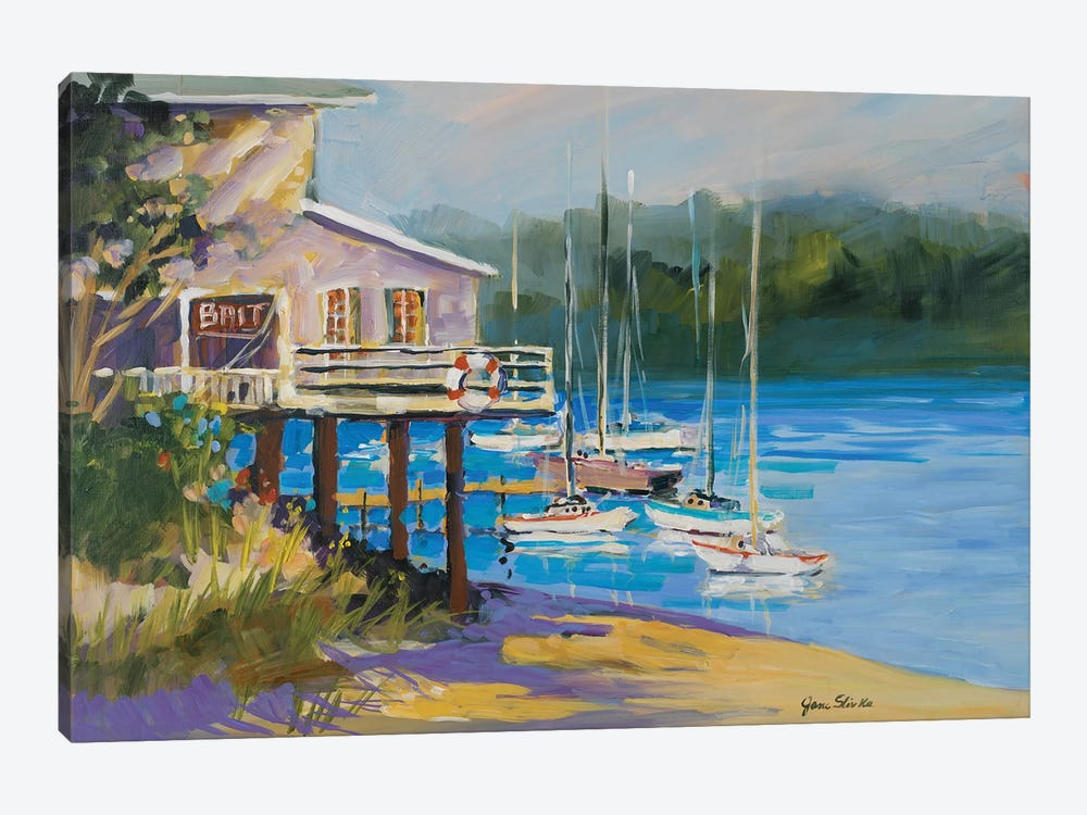 Bait Shack by Jane Slivka 1-piece Canvas Wall Art