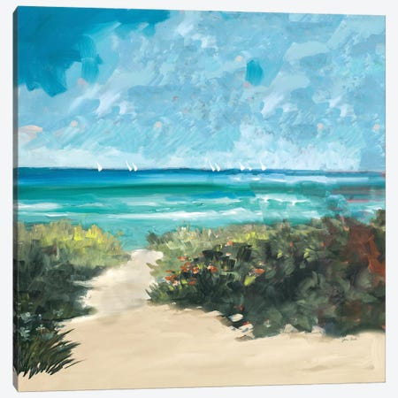 Oceanside I Canvas Print #JSL44} by Jane Slivka Canvas Art