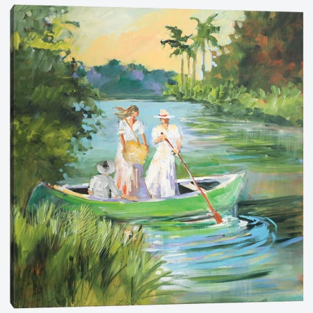 Out for a Row Canvas Print #JSL46} by Jane Slivka Canvas Wall Art