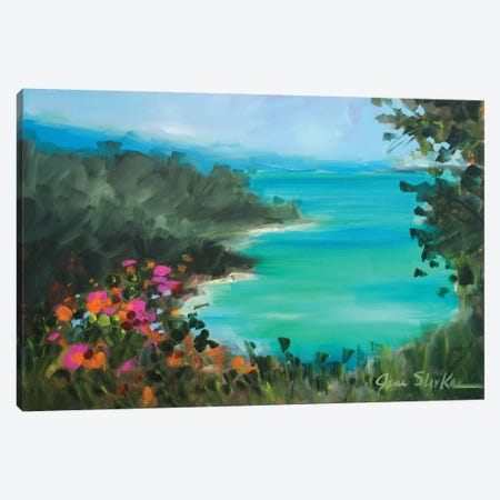 Overlooking the Inlet Canvas Print #JSL47} by Jane Slivka Canvas Artwork