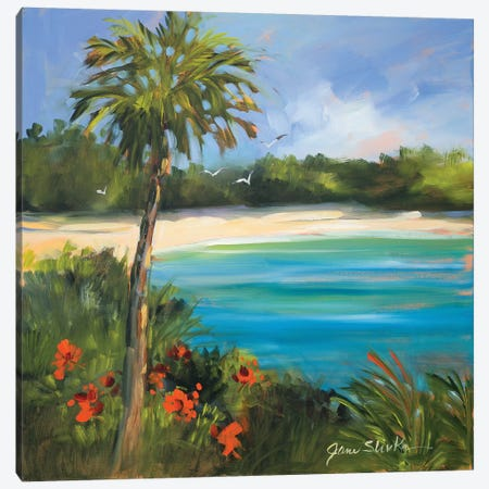 Palm Isle Canvas Print #JSL48} by Jane Slivka Canvas Art Print