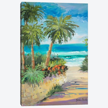 Palm Path Canvas Print #JSL49} by Jane Slivka Canvas Art Print