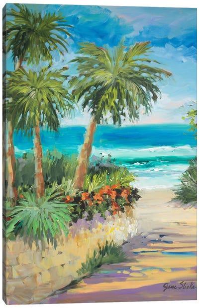 Palm Path Canvas Art Print