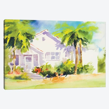 Beach Cottage I Canvas Print #JSL4} by Jane Slivka Art Print