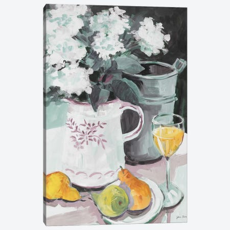 Pitcher of Flowers Canvas Print #JSL52} by Jane Slivka Canvas Wall Art