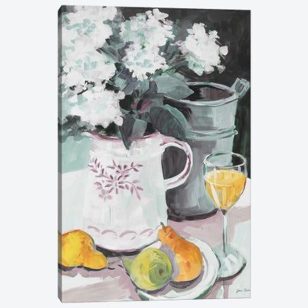 Pitcher of Flowers Canvas Print #JSL52} by Jane Slivka Canvas Wall Art