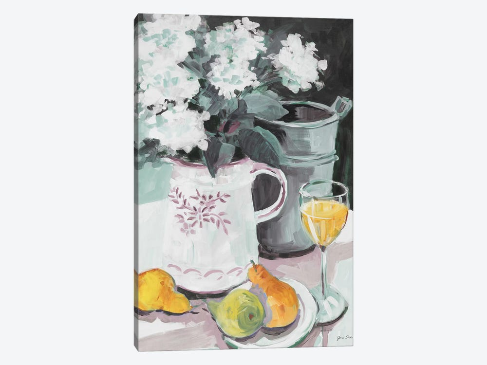 Pitcher of Flowers by Jane Slivka 1-piece Canvas Artwork