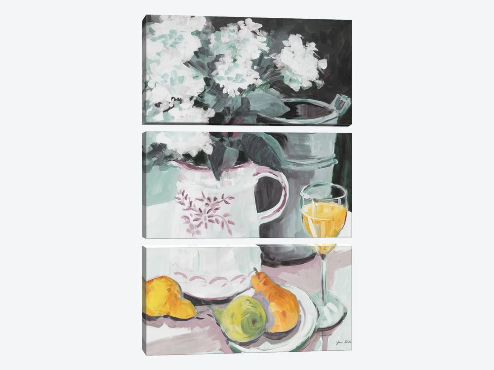 Pitcher of Flowers by Jane Slivka 3-piece Canvas Art
