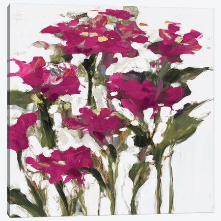 Plum Wild Flowers Canvas Print #JSL53} by Jane Slivka Canvas Artwork