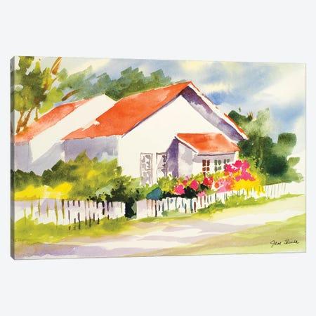 Beach Cottage II Canvas Print #JSL5} by Jane Slivka Art Print