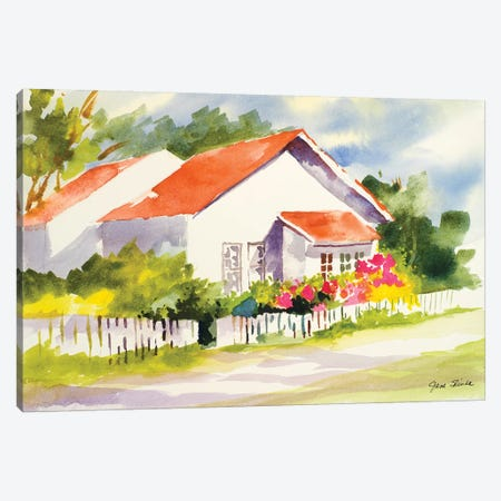 Beach Cottage II Canvas Print #JSL5} by Jane Slivka Art Print