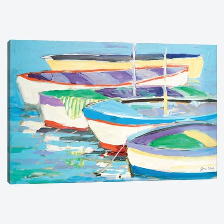 Row Your Boats Canvas Print #JSL62} by Jane Slivka Canvas Print