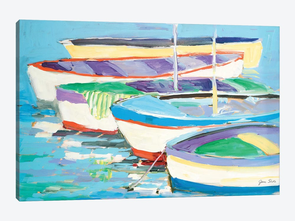 Row Your Boats by Jane Slivka 1-piece Canvas Art Print