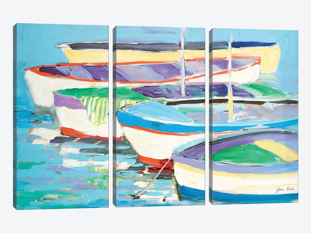 Row Your Boats by Jane Slivka 3-piece Art Print