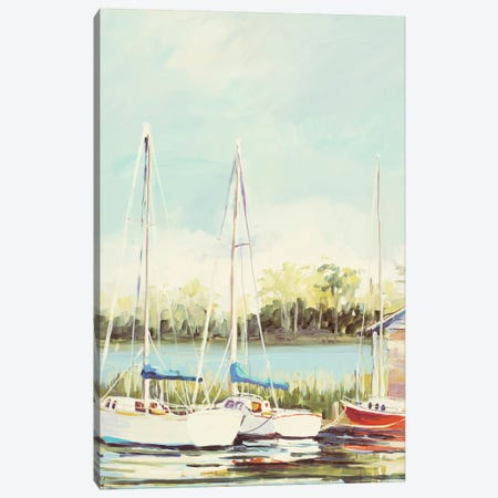 Sail Harbor Canvas Print #JSL63} by Jane Slivka Canvas Art Print