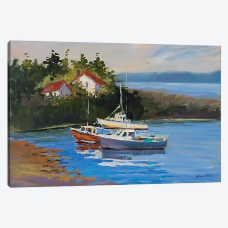 Sailboats Canvas Print #JSL64} by Jane Slivka Canvas Artwork