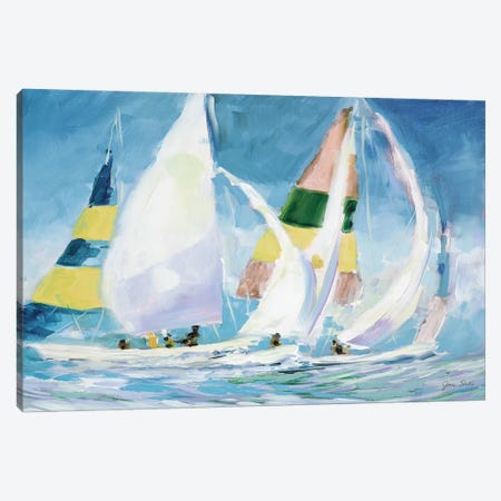 Sailing Away I Canvas Print #JSL65} by Jane Slivka Canvas Wall Art
