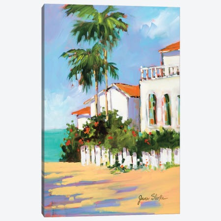 Shore House Canvas Print #JSL66} by Jane Slivka Canvas Artwork