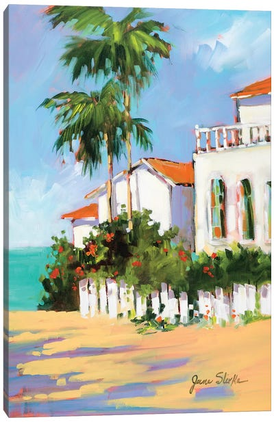 Shore House Canvas Art Print