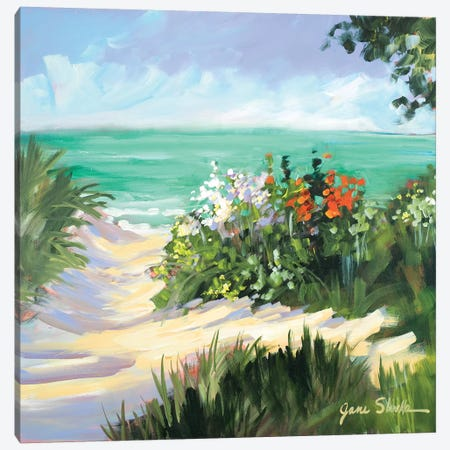 Sun Beach Dunes Canvas Print #JSL69} by Jane Slivka Canvas Print