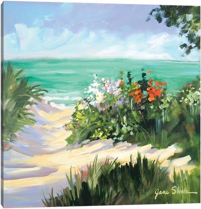Sun Beach Dunes Canvas Art Print