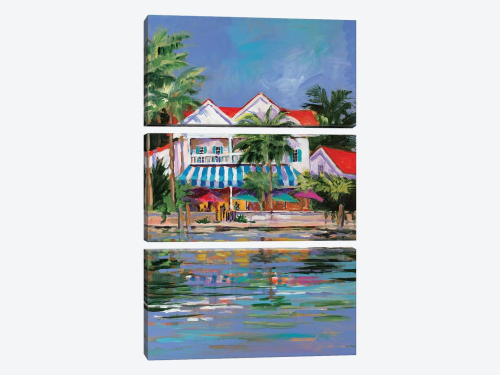 Beach Resort I by Jane Slivka 3-piece Canvas Art Print