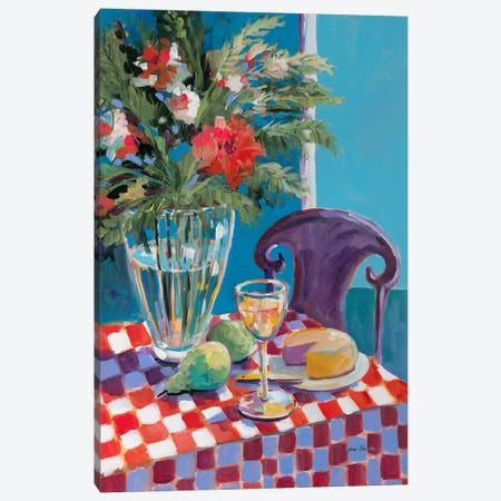 Table For One Canvas Print #JSL70} by Jane Slivka Canvas Wall Art