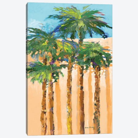 Tan Shadow Palms I Canvas Print #JSL71} by Jane Slivka Canvas Artwork