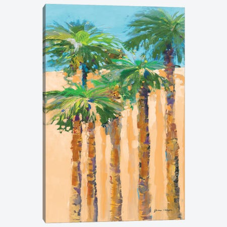 Tan Shadow Palms II Canvas Print #JSL72} by Jane Slivka Canvas Artwork