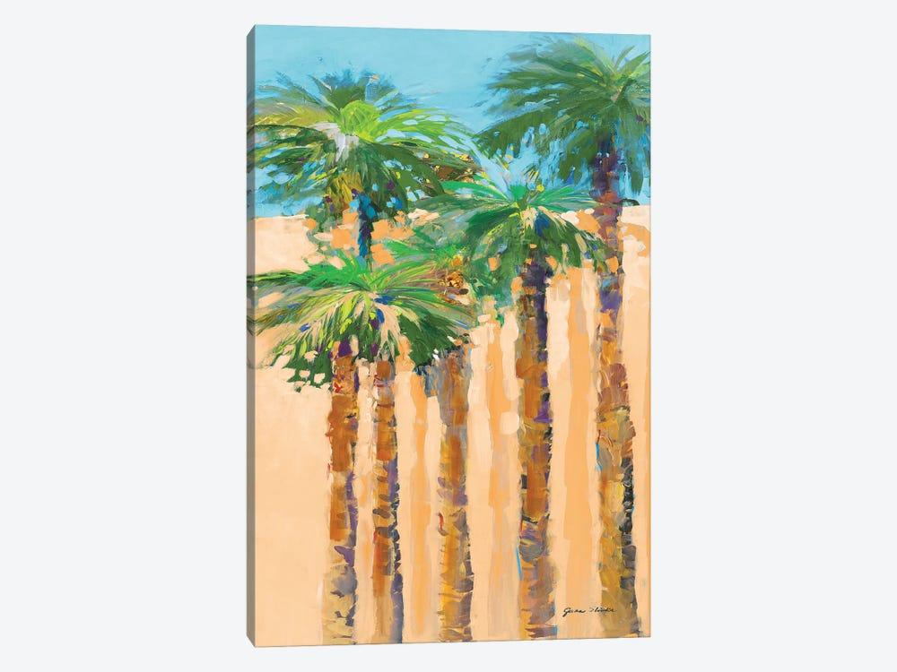 Tan Shadow Palms II by Jane Slivka 1-piece Canvas Art