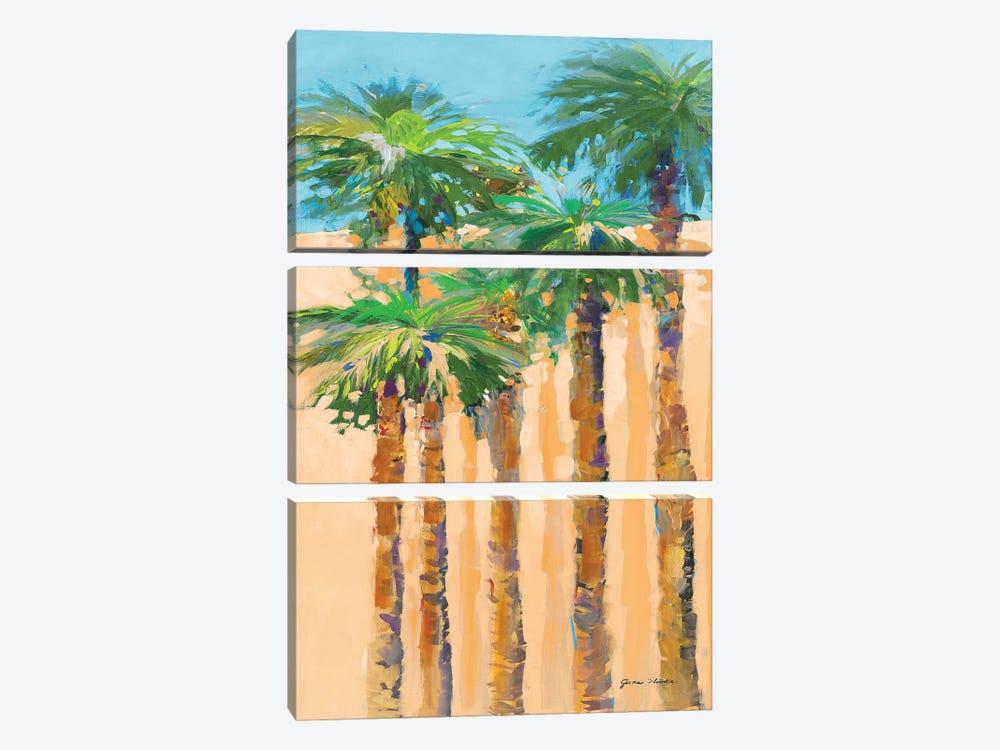 Tan Shadow Palms II by Jane Slivka 3-piece Canvas Artwork