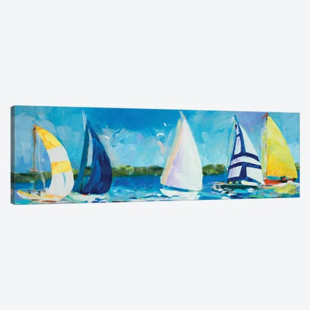 The Regatta I Canvas Print #JSL74} by Jane Slivka Canvas Print
