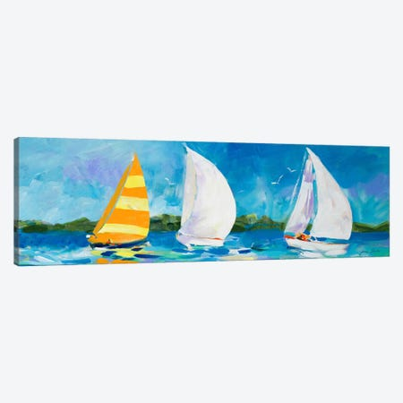 The Regatta II Canvas Print #JSL75} by Jane Slivka Canvas Print