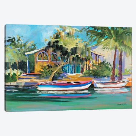 Vacation Home Canvas Print #JSL78} by Jane Slivka Canvas Art