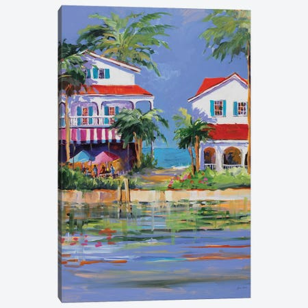 Beach Resort II Canvas Print #JSL7} by Jane Slivka Canvas Art Print