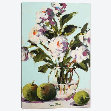 White Rose Canvas Print #JSL80} by Jane Slivka Canvas Art Print