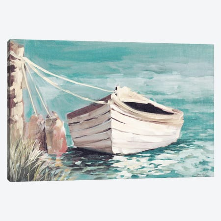 Canoe Canvas Print #JSL83} by Jane Slivka Canvas Print