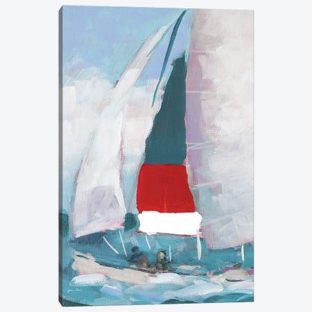 Red and Blue Sail I Canvas Print #JSL88} by Jane Slivka Canvas Art Print