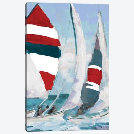 Red and Blue Sail II Canvas Print #JSL89} by Jane Slivka Art Print