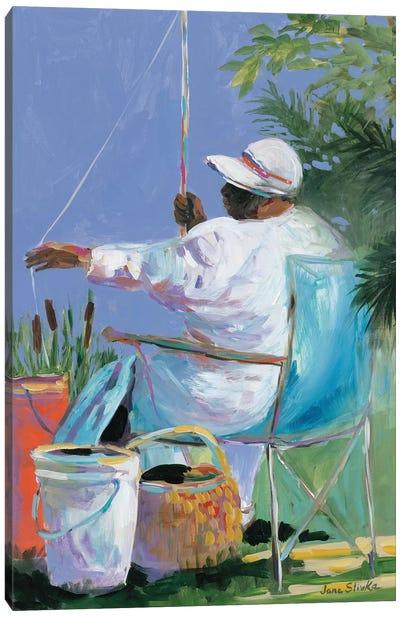 Sisters Fishing II Canvas Art Print