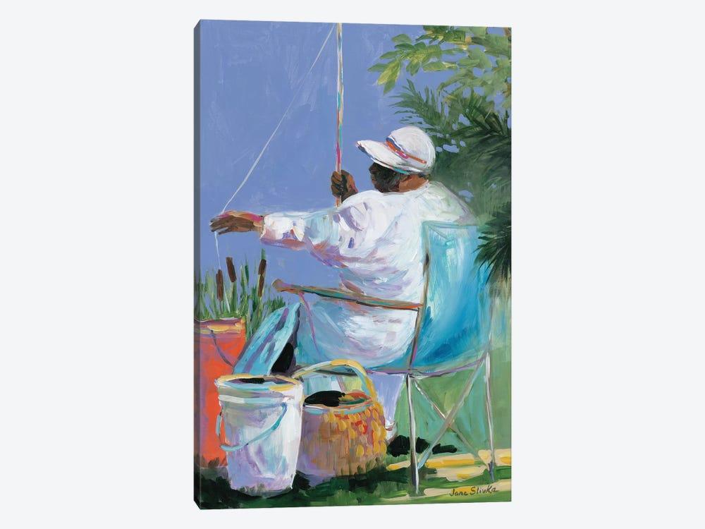 Sisters Fishing II by Jane Slivka 1-piece Canvas Print